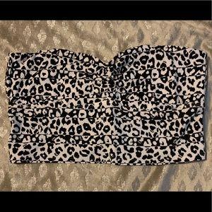 Victoria's Secret PINK Leopard Bandeau Bralette M